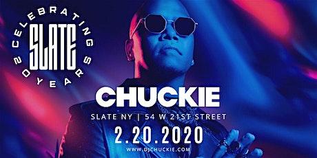 Slate NY 20th Anniversary Party with DJ Chuckie! tickets