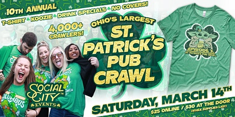 SOCIAL CITY'S 10TH ANNUAL ST. PATRICK'S PUB CRAWL tickets