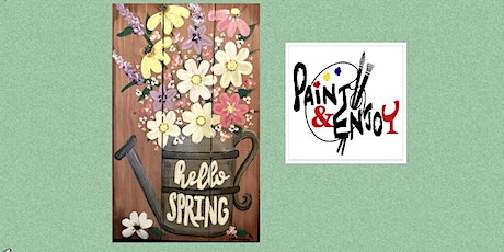 """Paint and Enjoy-Delta Pizza""""Hello  Spring"""" on Wood  tickets"""