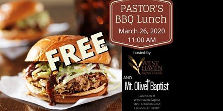 Pastor's FREE BBQ tickets