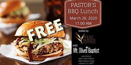 Pastor's FREE BBQ