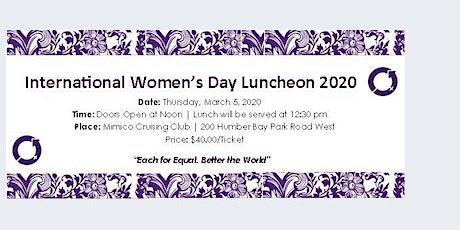 International Women's Day Luncheon  2020 @ Mimico Cruising Club tickets