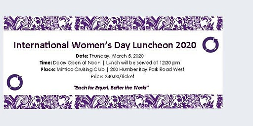 International Women's Day Luncheon  2020 @ Mimico Cruising Club