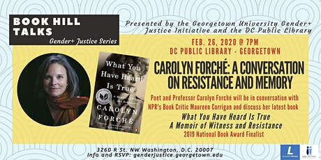 Carolyn Forché: a Conversation on Resistance and Memory tickets