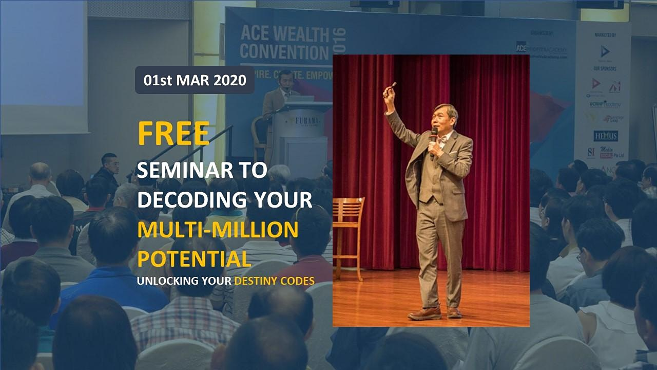 *[FREE Seminar: Decoding Your Multi-Million Potential By Dr Bernard]*