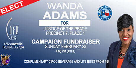 Party with a Purpose for Wanda Adams for Justice of the Peace Precinct 7 tickets