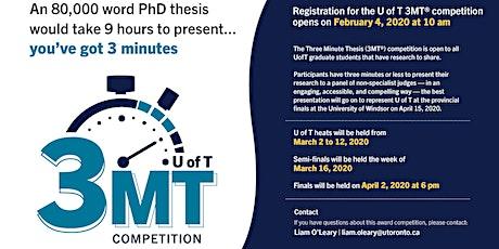 Watch the 3MT Semi-Finals tickets