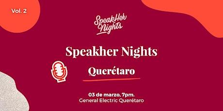 SPEAKHER NIGHTS QUERETARO VOL 2 boletos