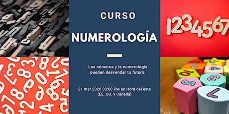 Curso Numerología  boletos