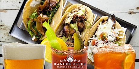 Breakfast tacos, Beer and Bourbon at Ranger Creek tickets