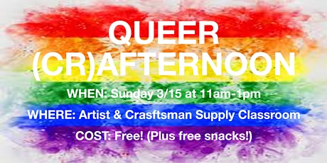 Queer Crafternoon tickets