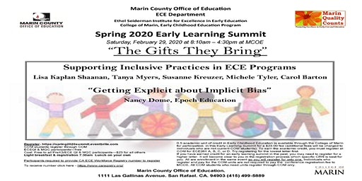 Spring Early Learning Summit   February 29, 2020