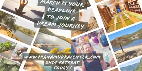 DEADLINE TO REGISTER YOGA RETREAT PRANAMUDRA  is March 20th 2020 bilhetes