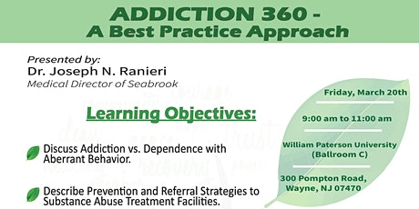 Addiction 360- A Best Practice Approach tickets