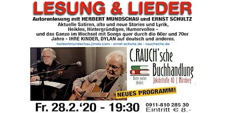 LESUNG & LIEDER mit Herbert Mundschau & Ernst Schultz tickets