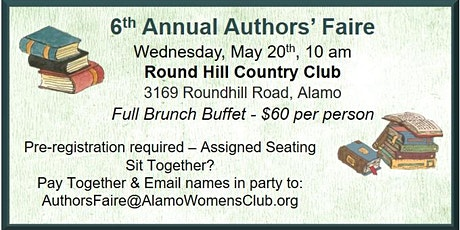 6th Annual Alamo Women's Club - Authors' Faire tickets