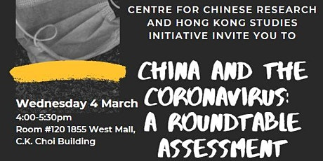 China and the Coronavirus: A Roundtable Assessment tickets