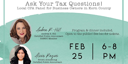 Local Tax Panel for Bakersfield Business Owners - NAWBO Bakersfield