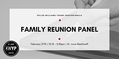 Family Reunion Panels 2020 Saint Louis