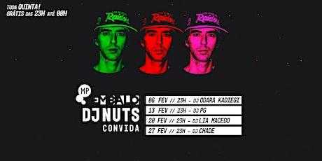 FEVEREIRO | EMBALO DE VERÃO | DJ NUTS + CONVIDADOS NO MUNDO PENSANTE ingressos
