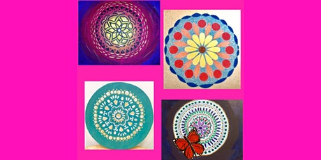 "Adult Open (18yrs+) ""Create Your Own Mandala"" Canvas or Wood Round tickets"