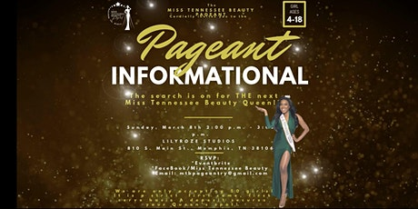 Miss Tennessee Beauty Pageant Informational tickets