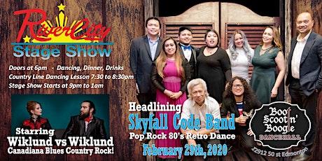 River City Stage Show - SkyFall Code Band with Wiklund vs Wiklund tickets