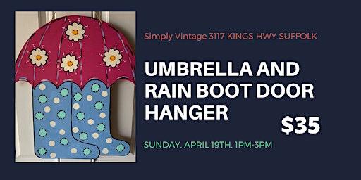 Umbrella and Rainboots Door Hanger Class