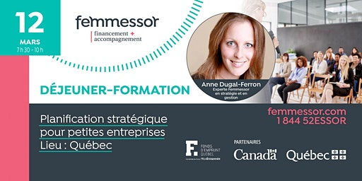 DÉJEUNER-FORMATION : Planification stratégique pour petites entreprises   Québec