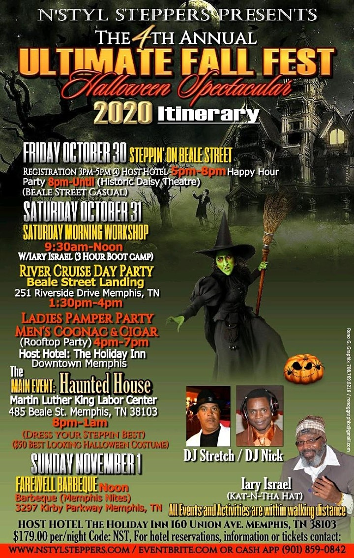 Memphis Halloween Beale 2020 4th Annual Ultimate Fall Fest, Halloween Spectacular Tickets, Fri