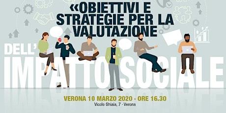 Obiettivi e strategie per la valutazione dell'impatto sociale biglietti