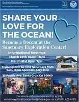 Become a Docent at the Sanctuary Exploration Center!