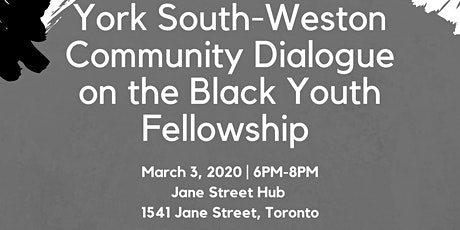 Weston Community Dialogue on the Black Youth Fellowship tickets