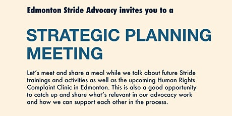 Stride Edmonton: Strategic Planning Meeting tickets
