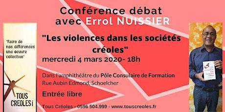 """Conférence-débat Tous Créoles ! """"Les violences dans les sociétés Créoles"""" billets"""