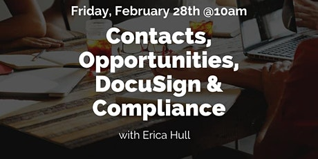 Contacts, Opportunities, DocuSign & Compliance  tickets