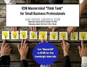 """ICON Mastermind """"Think Tank"""" March tickets"""