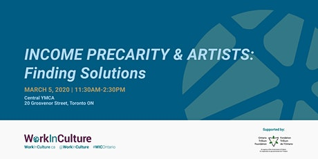 Income Precarity & Artists: Finding Solutions tickets