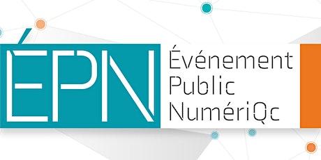 Événement public numériQc 2020 billets