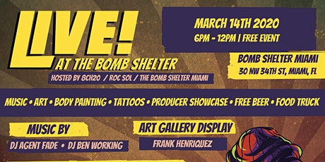 Live @ the Bomshelter Art Walk ( MIAMI MUSIC WEEK EDITION) tickets