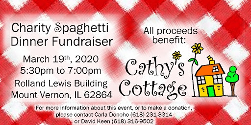 Charity Spaghetti Dinner Fundraiser for Cathys Cottage