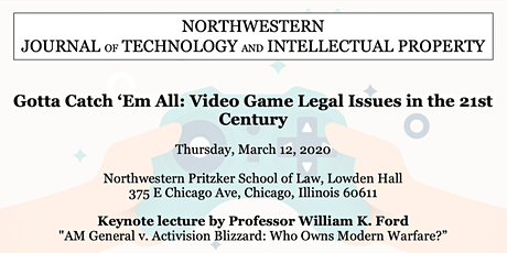Northwestern Journal of Technology and Intellectual Property Symposium 2020 tickets