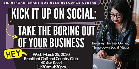 Kick it up on social: Take the boring out of your business tickets