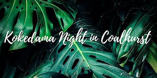 Kokedama Plant Night in Coalhurst