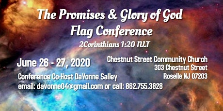 The Promises & Glory of God Flag Conference tickets