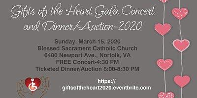 Gifts of the Heart Gala Concert and Dinner/Silent Auction