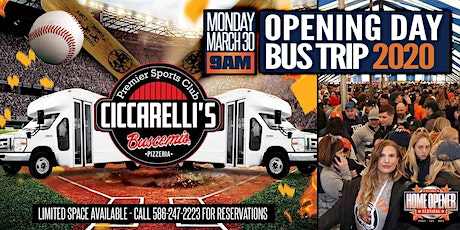 Opening Day Bus Trip 2020 | Ciccarelli's Sports Club tickets