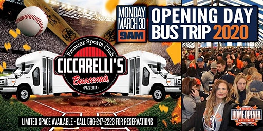 Opening Day Bus Trip 2020 | Ciccarelli's Sports Club