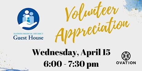 IMD Guest House Volunteer Appreciation  tickets