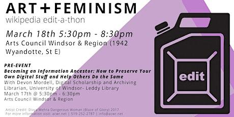 Art + Feminism: Wikipedia Edit-a-thon, 2020 tickets